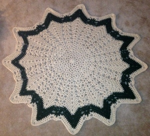 Crocheted lap blanket