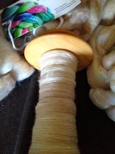 KnittyAndColor - Merino/Bamboo in the Soren colorway.