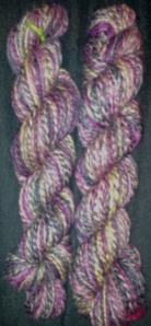 246 yards of Shetland spun in the Costume Ball colorway from FiberFancy