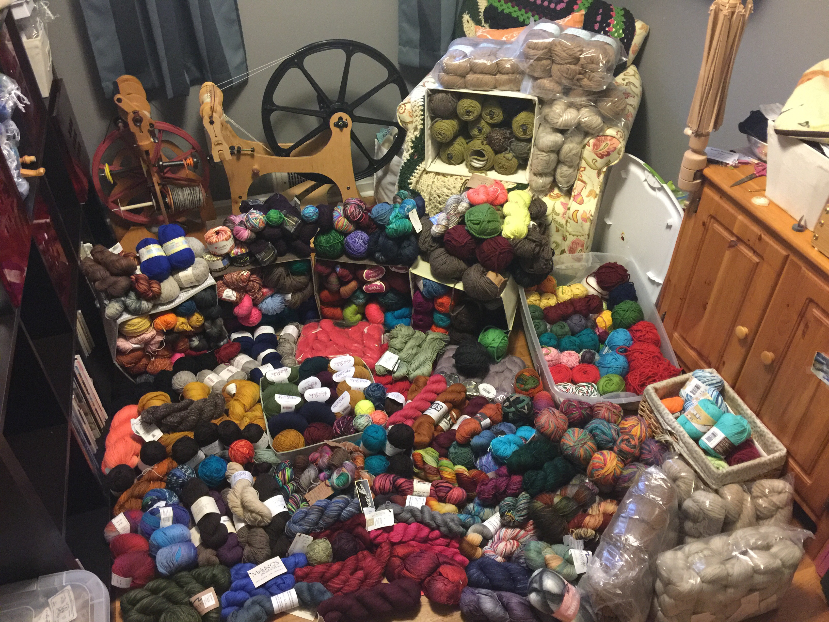 Image result for yarn stash pictures